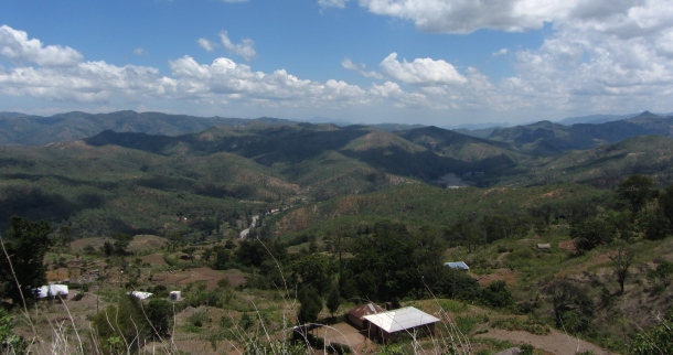 The cool hill town of Maubisse (mao-bissie). Hills and low mountains form the backbone of Timor Leste.