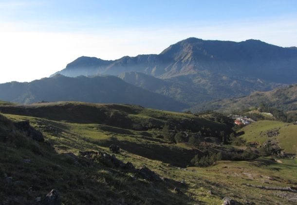 The absence of travellers and heavy usage means no worn patches on the pristine the hills and ridges of Timor Leste which are clothed in a blanket of soft green grass.