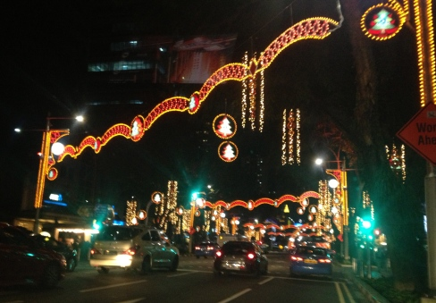 A tropical Christmas on Orchard Road, 2012.