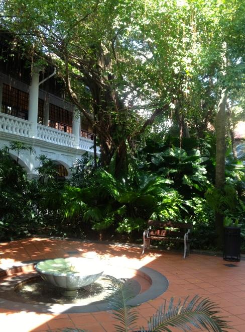 Inside the Raffles Hotel, Singapore.